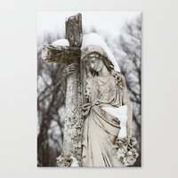 religious Canvas Prints featuring Religious Statue by Legends of Darkness Photography