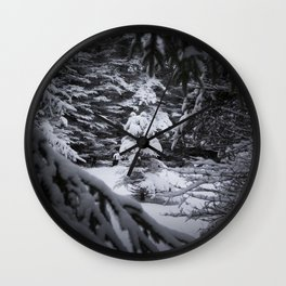 Through the Covered Trees Wall Clock