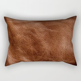 Vintage Dark Brown Leather Texure. Fine Leather Crafting, Handcrafts Work Space, Handmade Leather handcrafted, leather worker. Rectangular Pillow
