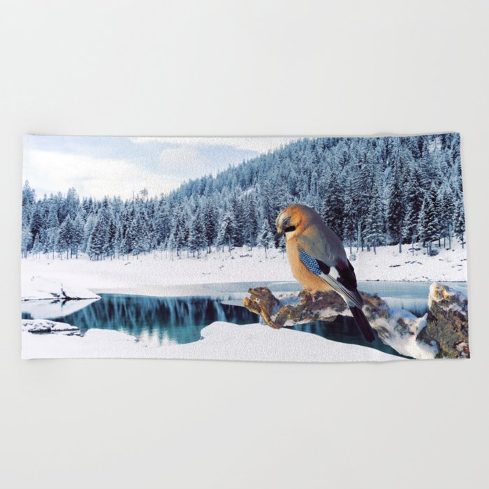 Winter Moments Beach Towel