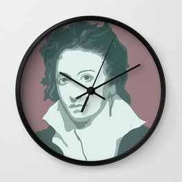 Percy Bysshe Shelley Wall Clock