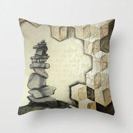 A Cairn - memorial stones Throw Pillow