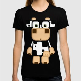 Super cute cartoon cow in black and white - a moo-st have design for  cow enthusiasts! T-shirt