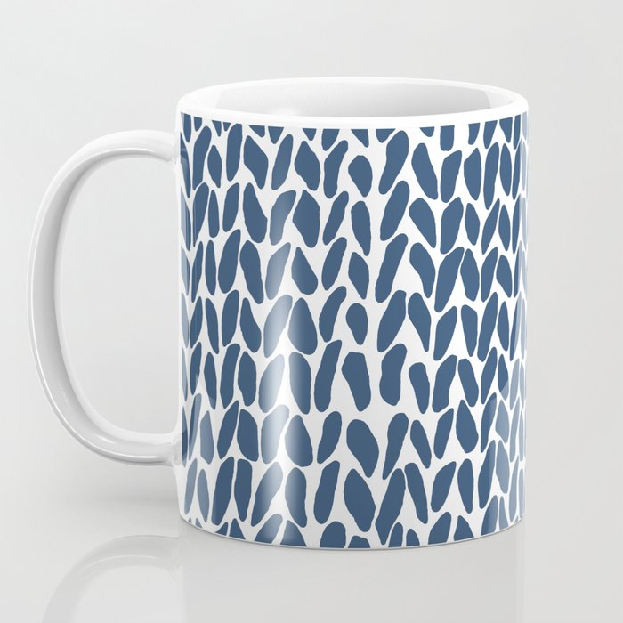 Hand Knit Zoom Navy Coffee Mug