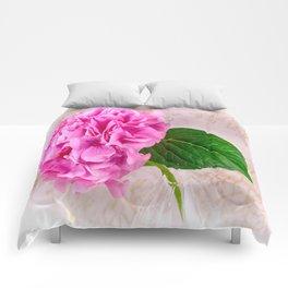 Vintage Pink Hydrangea Comforters