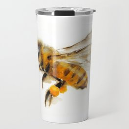 Honey Bee collecting pollen Travel Mug