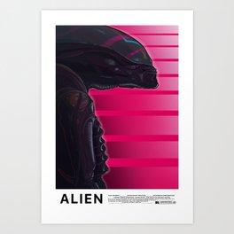 Neon ALIEN Art Print