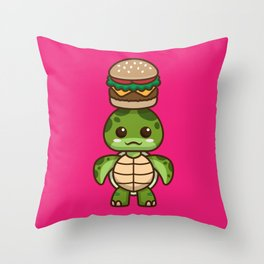 Sunny-chan Loves Burgers Throw Pillow