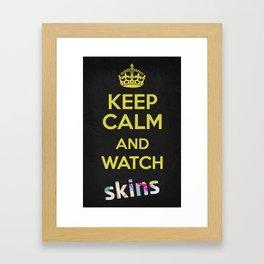 Keep Calm - Watch Skins Framed Art Print