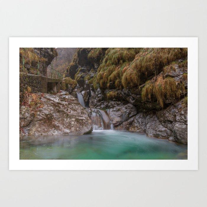 Waterfalls of Val Vertova Art Print