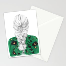 Braid in Green Stationery Cards