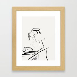 After The Phone Call Framed Art Print