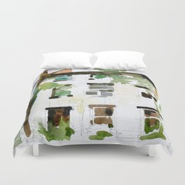 Brownstones and Tree Duvet Cover