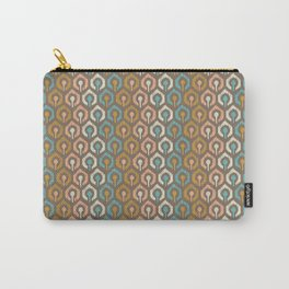 Honeycomb IKAT - Cocoa Carry-All Pouch