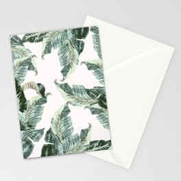 Tropical Banana Leaves Stationery Cards