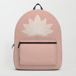 Minimal Lotus Flower XVI Backpack