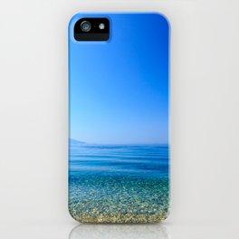 Girl at the sea in Croatia iPhone Case