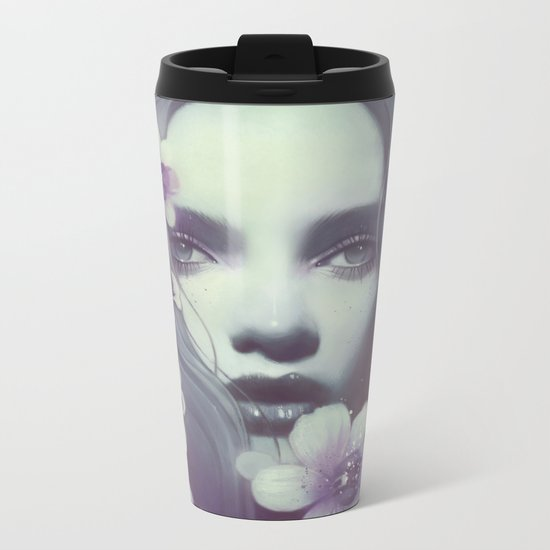 Lila Metal Travel Mug