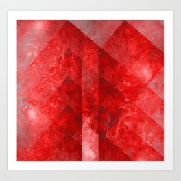 Ruby Nebulæ Art Print
