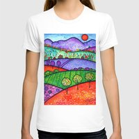 north carolina T-shirts featuring Landscape - Boone, North Carolina by Karen Hickerson