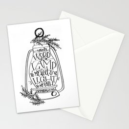 Psalm 119:105 Stationery Cards