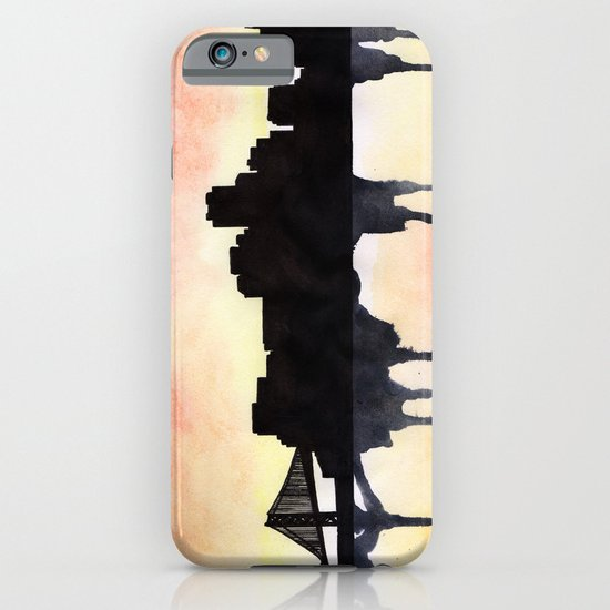 San Francisco Watercolour skyline iPhone & iPod Case