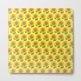 Sunflower Pattern_B Metal Print