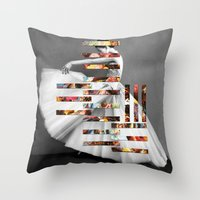 eugenia loli Throw Pillows featuring Extremities by Eugenia Loli