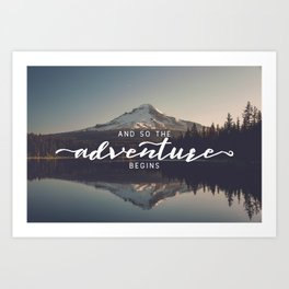 Trillium Adventure Begins - Nature Photography Art Print