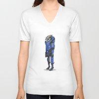 garrus V-neck T-shirts featuring Mass Effect - Garrus Vakarian by SuperPixelTime!