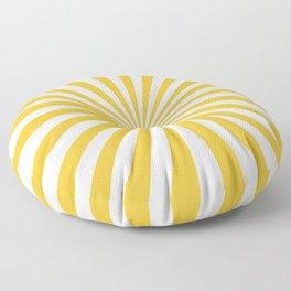 Mustard Yellow Rays Floor Pillow