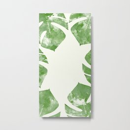 Monstera Deliciosa Watercolor Metal Print
