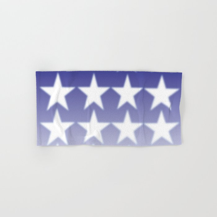 Blue And White Stars Blue Faded Background With White Stars Hand
