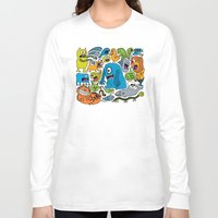 ice cream Long Sleeve T-shirts featuring Ice Cream by Chris Piascik