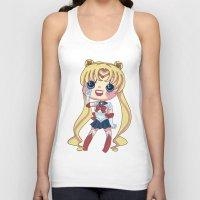 sailormoon Tank Tops featuring Sailor Moon Chibi by Hikari Rua