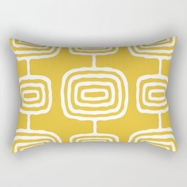 Mid Century Modern Atomic Rings Pattern 771 Mustard Yellow Rectangular Pillow