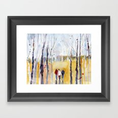 Loose Watercolors, Autumn in New Hampshire Framed Art Print