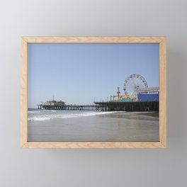 Santa Monica Pier Framed Mini Art Print