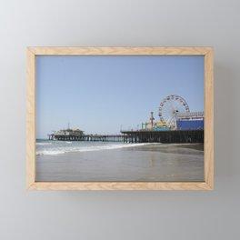Santa Monica Pier Framed Mini Art Print