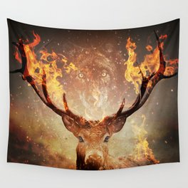 Internal flame Wall Tapestry