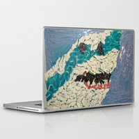 jaws Laptop & iPad Skins featuring Jaws by Emily Condie