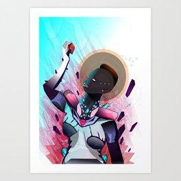 Krystal Melanin Art Print