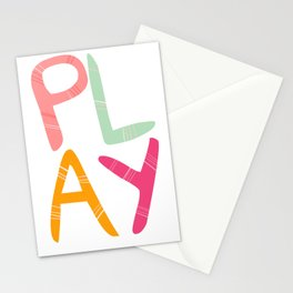 Play Nursery art Stationery Cards