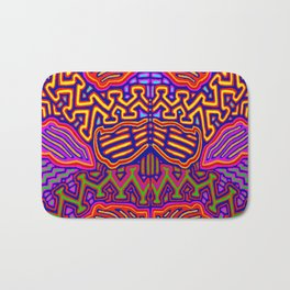Peyote Butterfly Bath Mat
