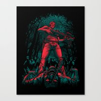 hunter Canvas Prints featuring Hunter by Fuacka