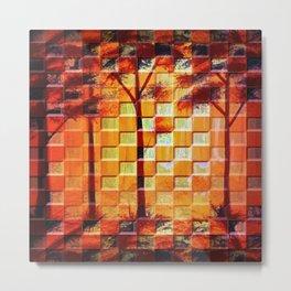 Mosaic Woodlands Metal Print
