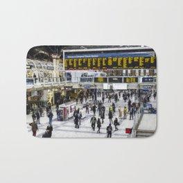 London Train Station Art Bath Mat