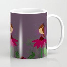 Tiny birds on flowers Coffee Mug