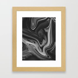 LAVA - BLACK Framed Art Print