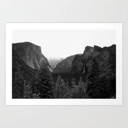 Tunnel View at Yosemite National Park Art Print